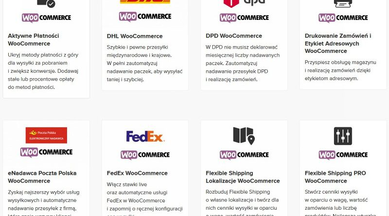Wtyczki - Wysyłka w WooCommerce